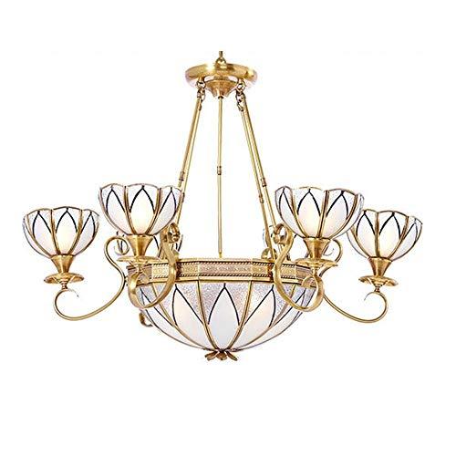 European Style Copper Chandelier/Pendent Lamp Parlour Lamps Baroque Style Luxurious Light Bedchamber Restaurant Chandelier/Pendent Lamp Brass Color Decoration Lamps, BOSSLV
