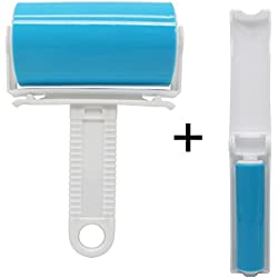 Amadear Washable Reusable Sticky Lint Roller Cloth Pet Hair Remover Cleaning Brush (Large and Small )