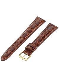Hadley-Roma Men's MS2001LAC200 20mm Honey Genuine Caiman Crocodile Leather Watch Strap