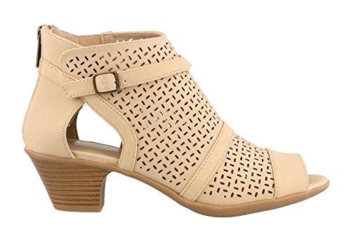 Easy Street Women's, Carrigan Mid Heel Sandals Sand 10 (Easy Street Mid Heel Sandals)