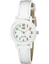 Women's LQ-139L-7BCF Analog Japanese Quartz White Synthetic leather Watch