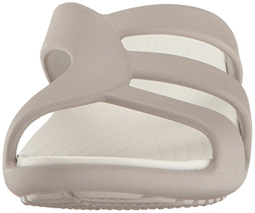 Femme Bout Wedge Strappy Platinum Sanrah Sandales Crocs Ouvert Gris 1WIYOqZxZ