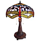 Cheap Chloe Lighting CH1049DB18-TL2 Tiffany-Style Dragonfly 2-Light Table Lamp with 18-Inch Shade