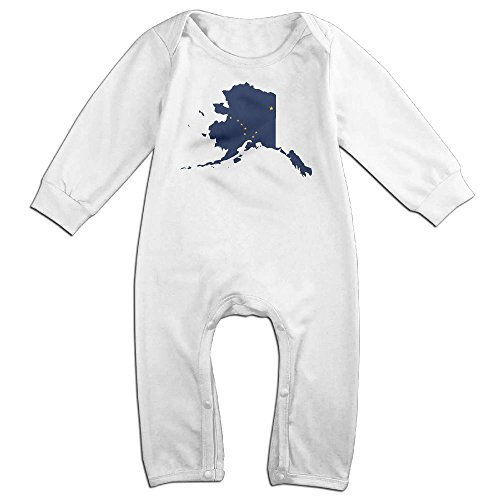 Mrei-leo Toddler Baby Boy Girl Organic Coverall Flag Map Of Alaska Kid Pajamas