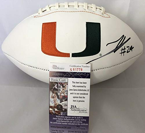 Travis Homer Autographed Signed Memorabilia Football Miami Hurricanes Canes White Panel - JSA Authentic