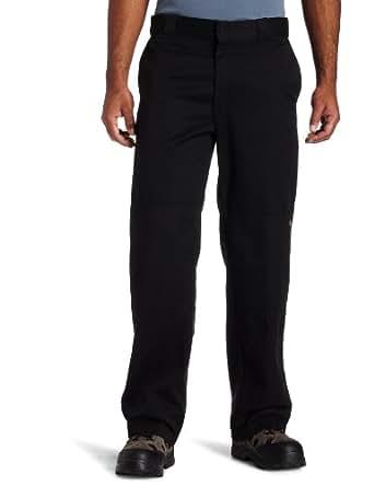 Dickies Men's Loose Fit Double Knee Twill Work Pant, Black, 28x30
