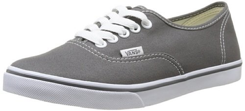 - Vans Authentic Lo Pro Unisex Skate Shoes (Pewter/True White) 4