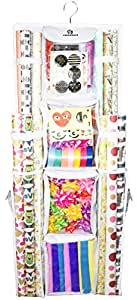 """Double Sided Hanging Gift Wrap Organizer 