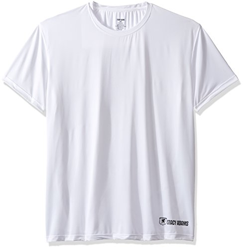 Stacy Adams Men's Big and Rangy Crew Neck Tee, White, 3X-Large