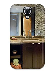 High-quality Durable Protection Case For Galaxy S4(brown Bathroom With Mosaic Tiles)
