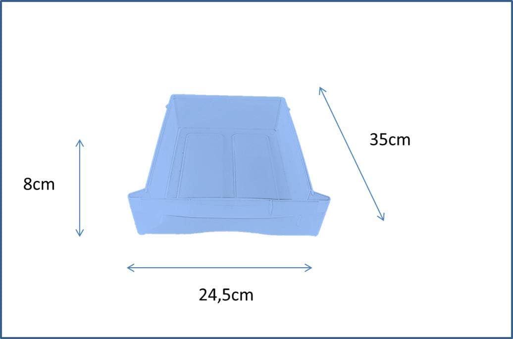 Polypropylen 38/x/30/x/60/cm transparent//Schwarz Sundis 4166001 Optimo Aufbewahrungsschrank mit 6/Schubf/ächern