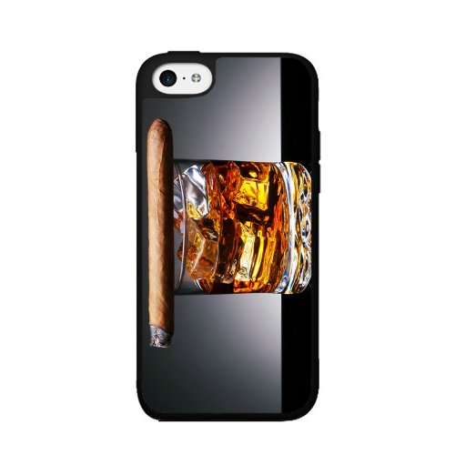Cigar on Top of Cognac - 2-Piece Dual Layer High Impact Phone Case Back Cover (iPhone 5 5s) comes with Security Tag and MyPhone Designs(TM) Cleaning Cloth