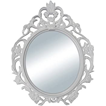 Ikea ung drill oval wall frame vintage shabby for Better homes and gardens baroque wall mirror black