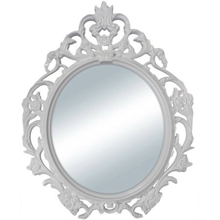 Better Homes and Gardens White Baroque Oval Wall Mirror from Better Homes & Gardens