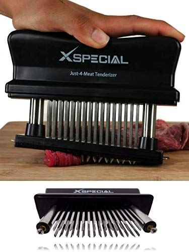 XSpecial Meat Tenderizer Tool | TRY IT NOW, Taste The Tenderness or REFUNDED | Kitchen Tenderizers 48-Blades Stainless Steel Needle - Best For Tenderizing, BBQ, Marinade & Flavor Maximizer