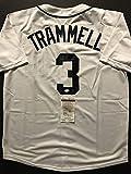 Autographed/Signed Alan Trammell Detroit White Baseball Jersey JSA COA