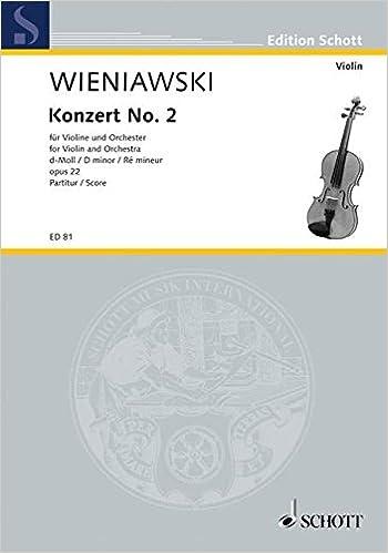 Téléchargements ibook gratuits pour iPhone Konzert Nr. 2 d-Moll op. 22 - violon et orchestre - Partition d'orchestre - ED 81 PDF ePub iBook