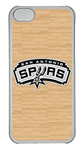 Creative GOOD 5C Case, iPhone 5C Case, Personalized Hard PC Clear Shoockproof Protective Case Cover for New Apple iPhone 5C - Nba San Antonio Spurs