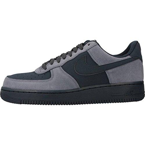 Nike Mens Air Force Ett 07 Lågt Basket Sko Blått Lock / Obsidian / Segel