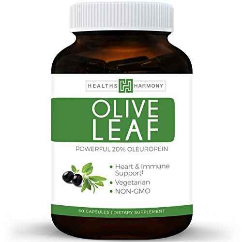 [Best Olive Leaf Extract (NON-GMO) Super Strength: 20% Oleuropein - 750mg - Vegetarian - Immune Support, Cardiovascular Health & Antioxidant Supplement - No Oil - 60 Capsules] (Fruit Extract 60 Caps)
