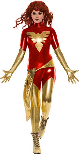 Phoenix Halloween Costume (Rubie's Women's Marvel X-Men: Dark Phoenix Costume, as Shown,)