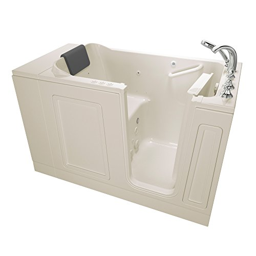 American Standard 3051.119.CRL AS Tubs Acrylic Luxury Series 30 in. x 51 in. Walk-In Bathtub with Air Spa and Whirlpool Massage systems in Linen, ()