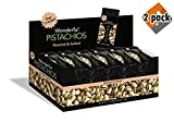 Wonderful Pistachios, Roasted and Salted, 1.5 Ounce (Pack of 24) - 2 Pack