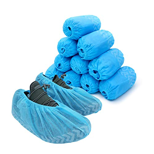 (LyncMed Disposable Boot & Shoe Covers, Water-Resistant, Non Slip Protective Foot Booties Fits All Size Up to XL (Pack of 100))