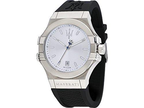 Maserati watch R8851108022 Potenza Silver Man Silicone Calendar