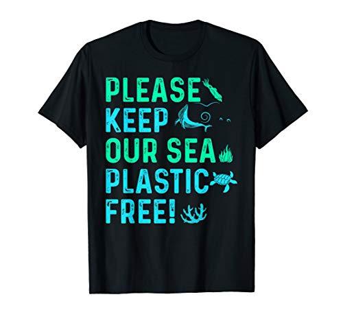 Please Keep Our Sea Plastic Free Marine Animals Tshirt
