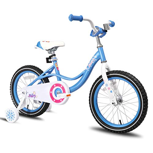 JOYSTAR 16 Inch Kids Bike with Training Wheels for 4 5 6 Years Old Girls, Toddler Cycle for Early Rider, Child Pedal Bike, Blue