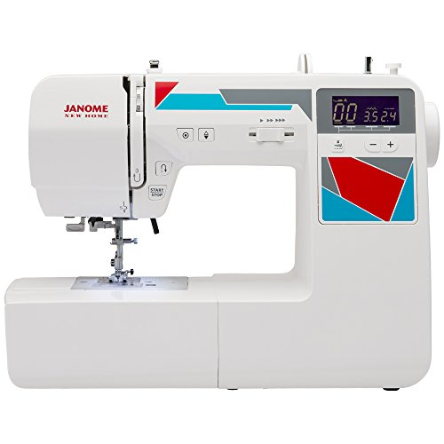 Janome MOD-100 Computerized Sewing Machine with 100 Built-In Stitches, 7 One-Step Buttonholes, Drop Feed and Accessories - Needle Drop Feed