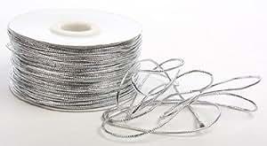 Metallic Silver Tinsel Cord - 100 Yard Spool