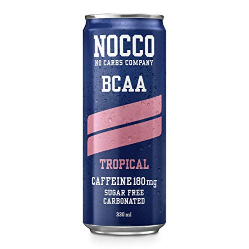 NOCCO Energy Drink | BCAA, 180mg Cafeïne suikervrije dranken versterkt met aminozuren en vitaminen | pre workout…