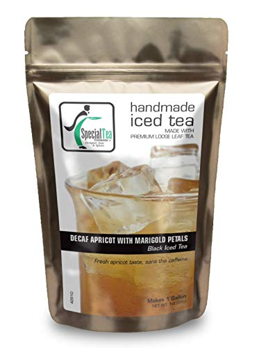 Special Tea Decaf Apricot with Flowers, Iced Black Tea Makes 1 Gallon, Decaf Apricot with Flowers, 1 Ounce