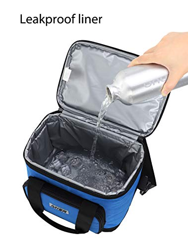 9f8e4d3f20e01 MIER 16 Can Large Insulated Lunch Bag for Women and Men, Soft Leakproof  Liner, Navy Blue