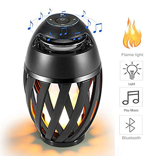 Vistatech Led Flame Speaker Bluetooth Speaker,Dancing Flames Outdoor Indoor Portable Bluetooth Speaker &Torch Atmosphere Light USB