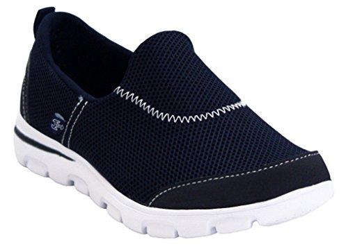 A Plantilla Ligero Zapatillas Gimnasio Damas H Walk Azul Calzado Reino caminar de ocasional Unido para Tamaños Walk Fitness deporte suave del mujer Caminar Go Pro On Slip para marino 3 Girls 8 rxrO1w0q