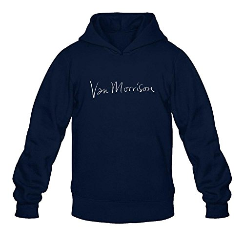 Ivantop Van Morrison 2016 fashion Men's Hoodie Sweatshirt Royal Blue