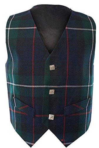 Boys Waistcoat, Silk Back Adjustable buckle MacKenzie Tartan 9 year ()