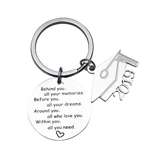 2019 Graduation Gift Keychains-Go Confidently in The Direction of Your Dreams Live The Life You Have Imagined (Style -