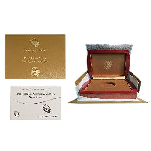 Unc No Coins (2016-W UNC $10 Gold Nancy Reagan First Spouse Box & COA (No Coin))