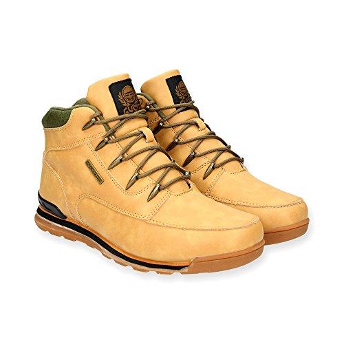 Herren Outdoor Stiefeletten  Trekking Stiefel im modischen Design für Herren  Sportschuhe Sneaker Schuhe   Schnür Boots für Sport und Freizeit  Gr. 41 bis 45   Japanolo   Camel EU 43