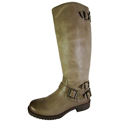 Arturo Chiang Women Ella Leather Riding Boot Shoe, Sahara Sand Maple, US - Arturo Heels Chiang