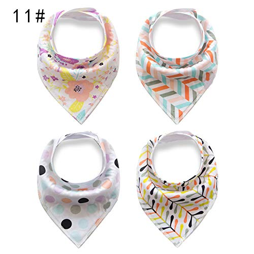 4Pcs Infant Newborn Baby Bibs Fleece Burp Cloths Feeding Saliva Slabber Towel Boy Girl Dribble Triangle Baby Bandana Bibs by VADOLY