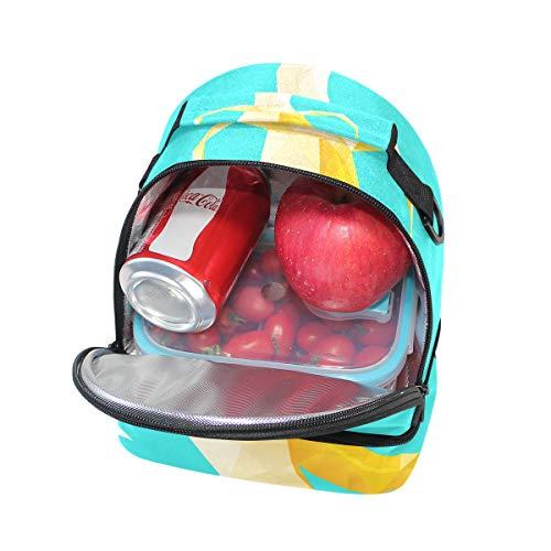 para correa el pincnic con almuerzo y escuela Bolsa aislante ajustable de la de para Alinlo hombro qY40wFx