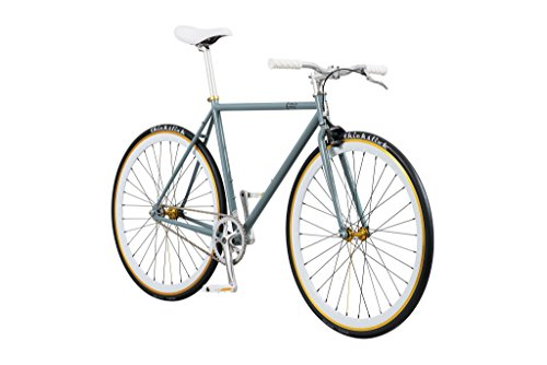 Pure Fix Original Fixed Gear Single Speed Bicycle, Foxtrot Grey/White,...