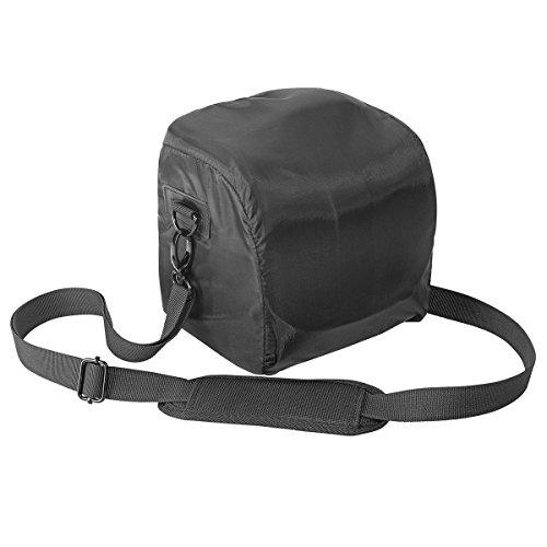 PEDEA SLR Kameratasche für Nikon D750, D3100, D5100 / Canon EOS 1200D / Pentax K-3II / Sony DSC-RX10, SLT-A99V / Olympus E-M1 OM-D (Größe M) schwarz/grau mit Displayschutzfolie