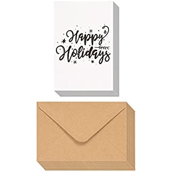 Amazon Com Happy Holidays Greeting Card Gift Tag Collection 24