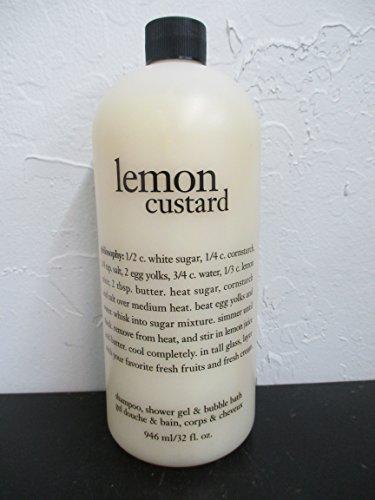 Lemon Custard Shower Gel, Shampoo and Bubble Bath Mega Size by Philosophy